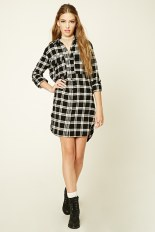 Plaid Flannel Shirt Dress