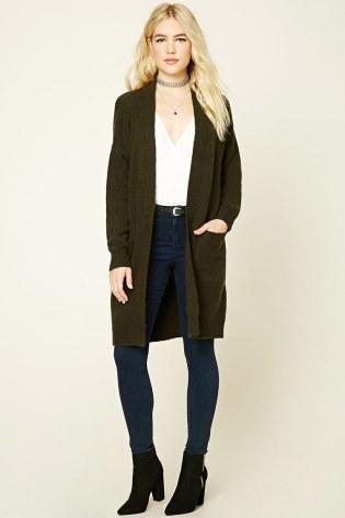 Wool-Blend Longline Cardigan